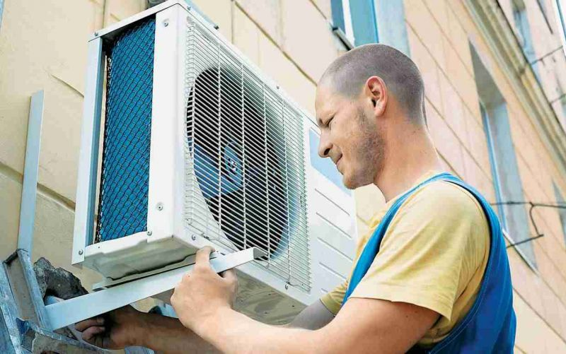 Image result for installation of air conditioning units